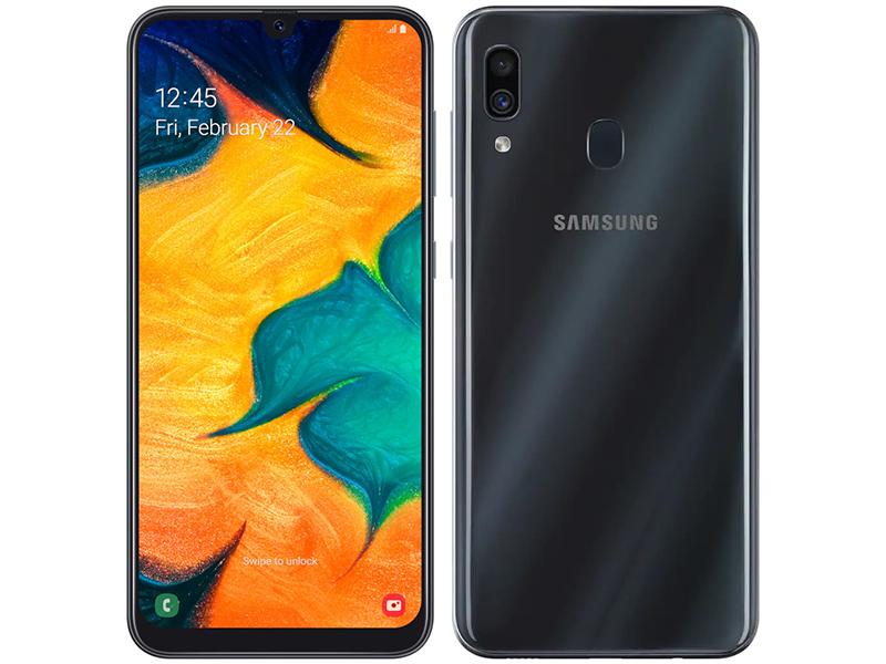 Сотовый телефон Samsung SM-A305F Galaxy A30 3Gb RAM 32Gb Black смартфон samsung galaxy a30 sm a305f 64gb белый