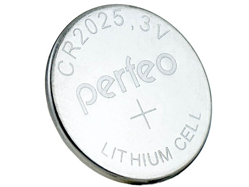 Батарейка Perfeo CR2025/1BL Lithium Cell (1 штук) батарейка energizer lithium cr2025 fsb 2шт