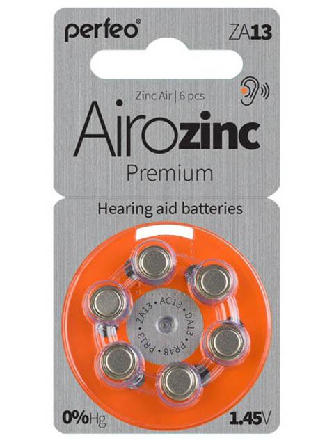 Батарейки Perfeo ZA13/6BL Airozinc Premium (6 штук) фото