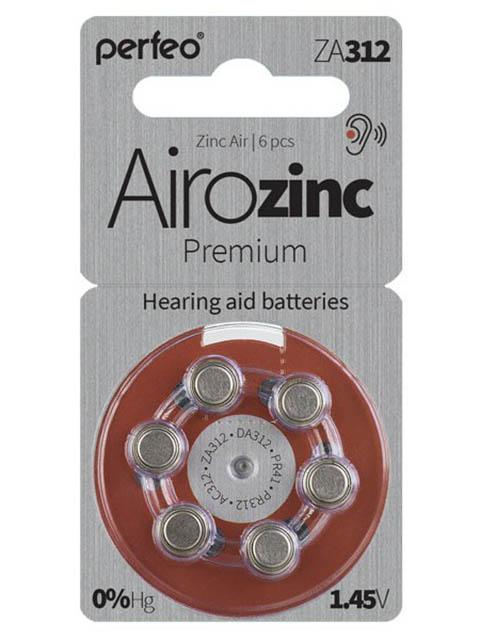 Батарейки Perfeo ZA312/6BL Airozinc Premium (6 штук)