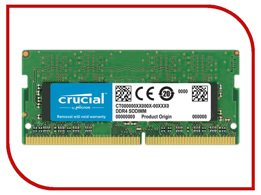 Модуль памяти Crucial DDR4 SO-DIMM 2400MHz PC4-19200 CL17 - 8Gb CT8G4SFS824A