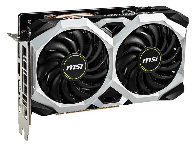 Видеокарта MSI GeForce GTX 1660 Ti 1830Mhz PCI-E 3.0 6144Mb 12000Mhz 192 bit 3xDP HDMI VENTUS XS 6G OC / OCV1