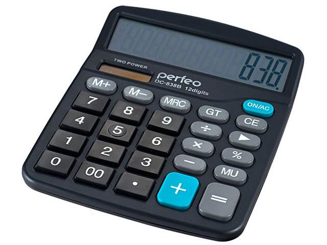 Калькулятор Perfeo Black PF_3288