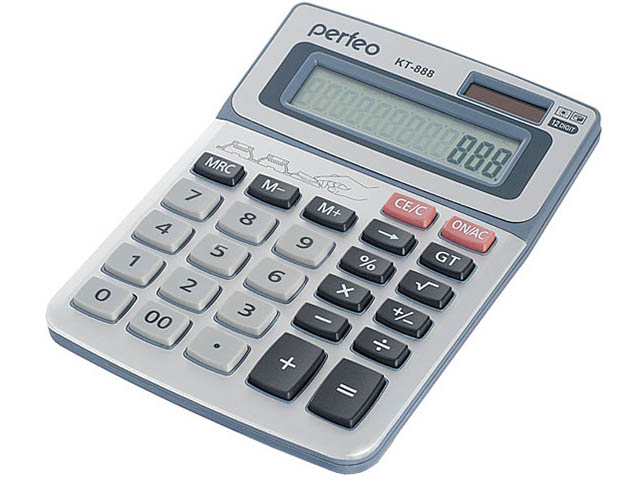 Калькулятор Perfeo Silver PF_3545