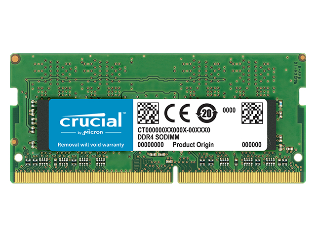 купить Модуль памяти Crucial DDR4 SO-DIMM 2400MHz PC4-19200 CL17 - 16Gb CT16G4SFD824A дешево