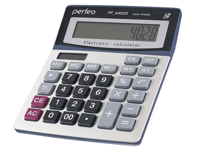 Калькулятор Perfeo Silver PF_A4028