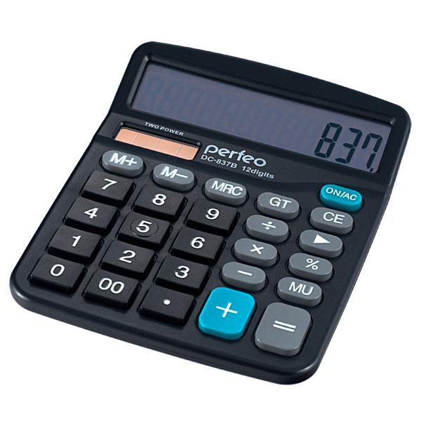 Калькулятор Perfeo Black PF_3286
