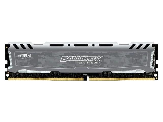 Модуль памяти Crucial Ballistix Sport LT Grey DDR4 DIMM 3000MHz PC4-24000 CL15 - 16Gb BLS16G4D30AESB