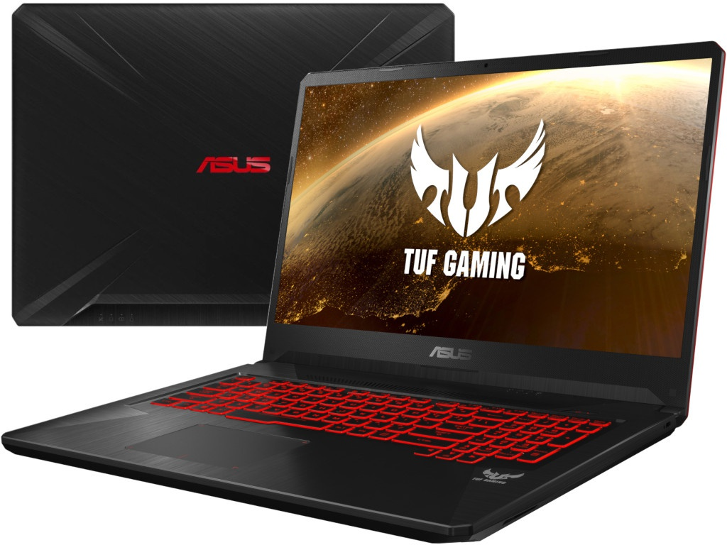 Ноутбук ASUS ROG FX705DY-AU019T 90NR0192-M00810 (AMD Ryzen 5 3550H 2.1 GHz/8192Mb/1000Gb + 128Gb SSD/No ODD/AMD Radeon RX 560X 4096Mb/Wi-Fi/Cam/17.3/1920x1080/Windows 10 64-bit)