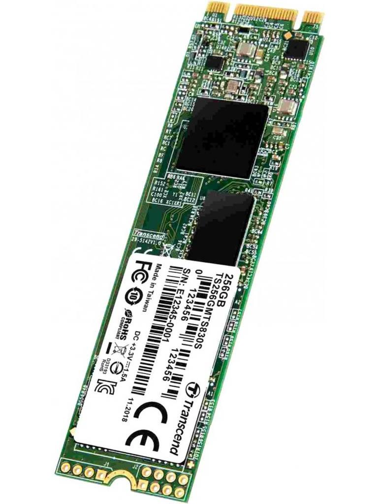 Жесткий диск Transcend M.2 MTS830 SATA3 256Gb TS256GMTS830S