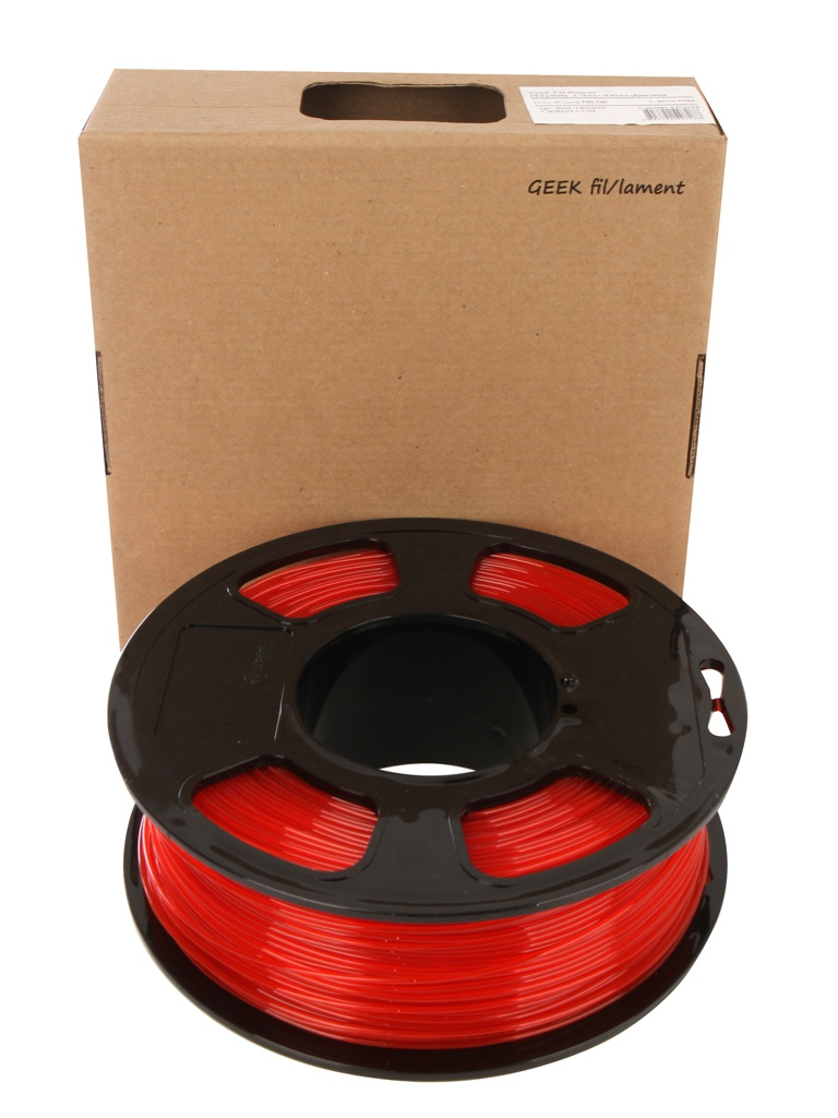 Аксессуар U3Print Geek Fil/lament PETg 1.75mm 1kg Ruby