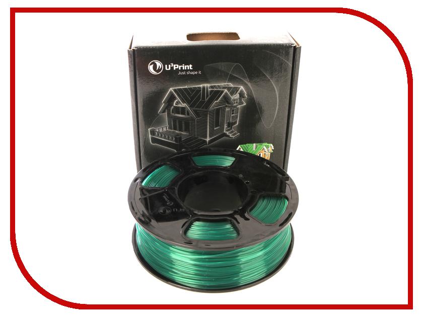 Аксессуар U3Print PLA Transparent 1.75mm 1kg Green