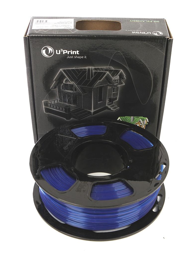 Аксессуар U3Print PLA Transparent 1.75mm 1kg Sapphire bq pla 1 75mm vitamine orange 1kg 05bqfil028