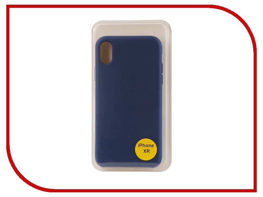 Аксессуар Накладка для iPhone XR 6.1 Red Line Silicon Case Blue УТ000017263 london big ben style protective plastic back case for iphone 5 red blue brown
