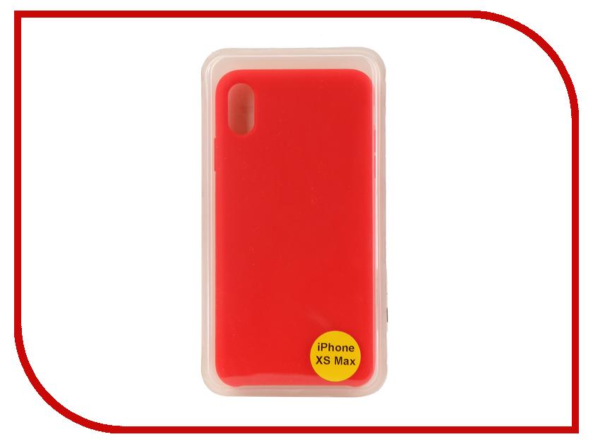 Аксессуар Накладка для iPhone XS Max 6.5 Red Line Silicon Case Red УТ000017261