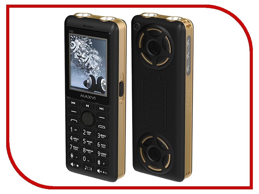 Сотовый телефон Maxvi P20 Black-Gold сотовый телефон maxvi b6 black