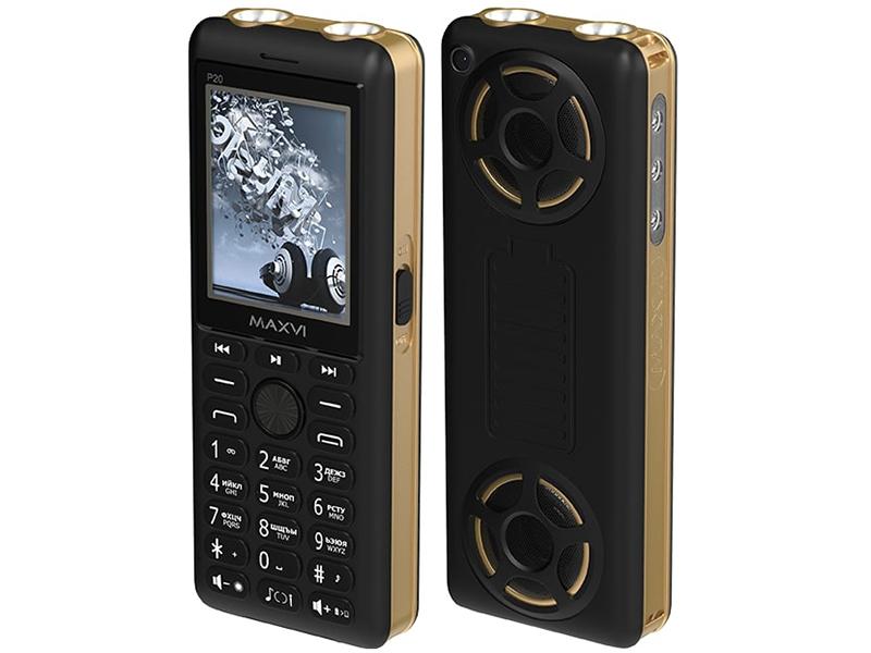 Сотовый телефон Maxvi P20 Black-Gold