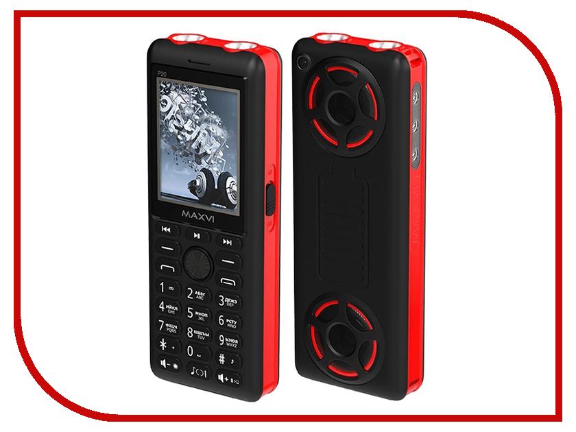 Сотовый телефон Maxvi P20 Black-Red сотовый телефон maxvi b6 black