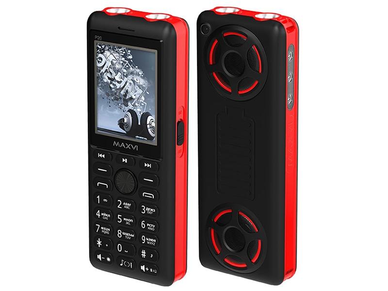 Сотовый телефон Maxvi P20 Black-Red gm p20
