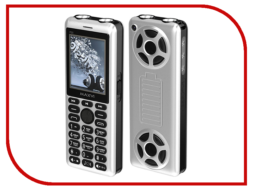 Сотовый телефон Maxvi P20 Silver-Black сотовый телефон maxvi e1 black
