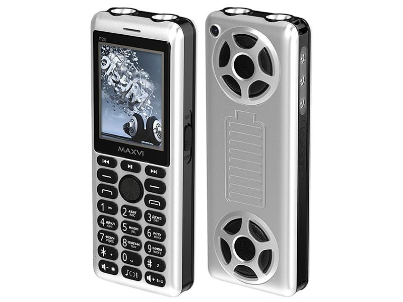 Сотовый телефон MAXVI P20 Silver-Black сотовый телефон maxvi c17 white red
