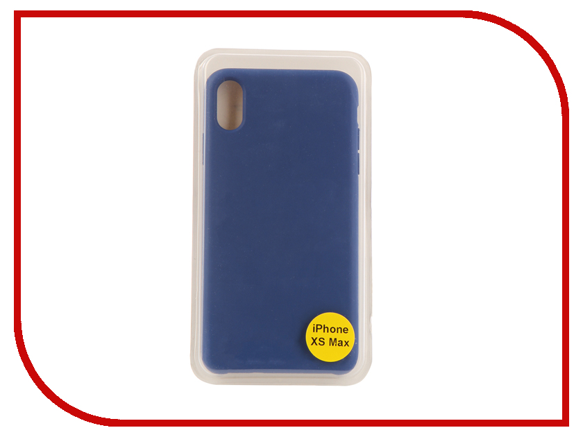 Аксессуар Накладка для iPhone XS Max Red Line Silicon Case Blue УТ000017260 london big ben style protective plastic back case for iphone 5 red blue brown