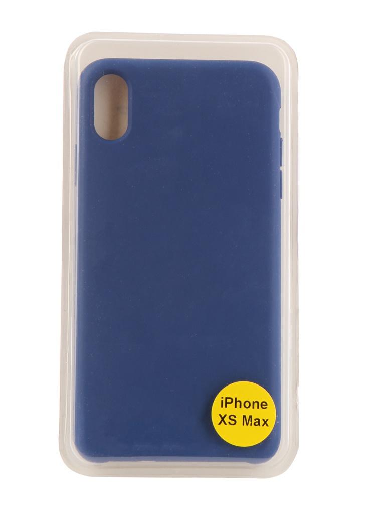 Аксессуар Накладка Red Line для APPLE iPhone XS Max Silicon Case Blue УТ000017260 аксессуар защитная пленка iphone xs max red line задняя часть ут000016929