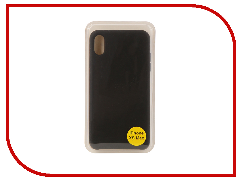 Аксессуар Накладка для iPhone XS Max 6.5 Red Line Silicon Case Black УТ000017259 gumai silky case for iphone 6 6s black