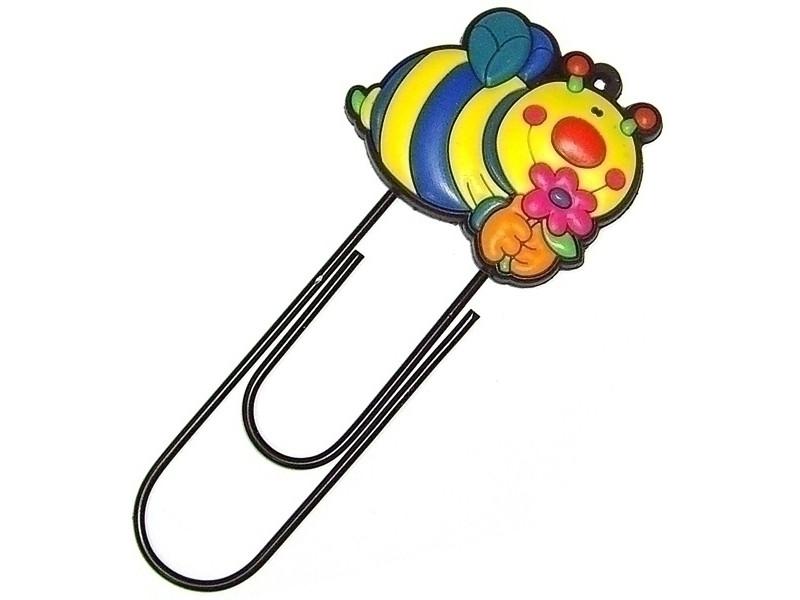 Закладка-скрепка Эврика Пчела 91548