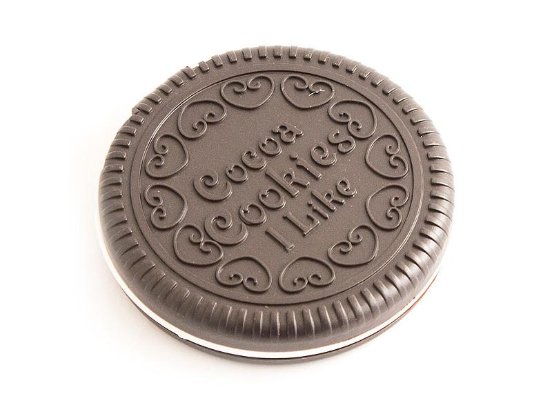 Зеркало с гребешком Эврика Темный шоколад 92301