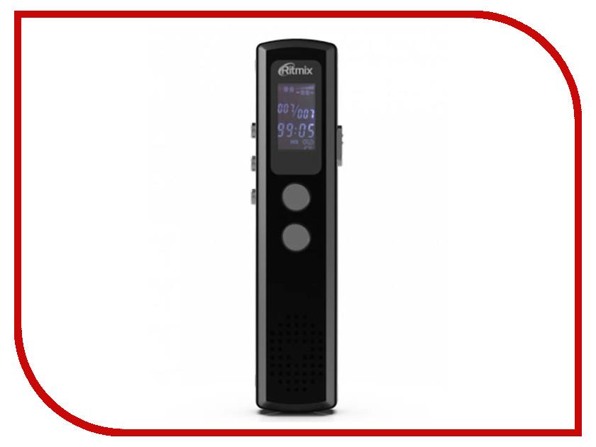 лучшая цена Диктофон Ritmix RR-120 8Gb Black