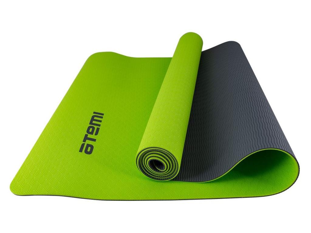 Коврик для йоги Atemi 173x61x0.4cm Grey-Green AYM-01TPE цена и фото