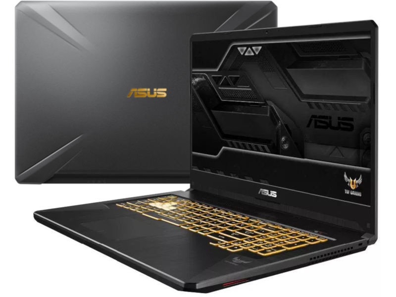 Ноутбук ASUS FX705GE-EW240T 90NR00Z1-M05540 (Intel Core i5-8300H 2.3 GHz/16384Mb/1000Gb + 256Gb SSD/No ODD/nVidia GeForce GTX 1050Ti 4096Mb/Wi-Fi/Cam/17.3/1920x1080/Windows 10 64-bit)