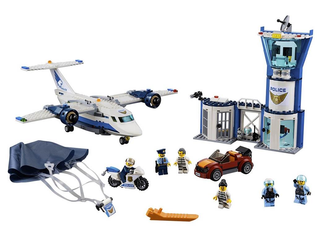Конструктор Lego City Воздушная полиция: Авиабаза 529 дет. 60210