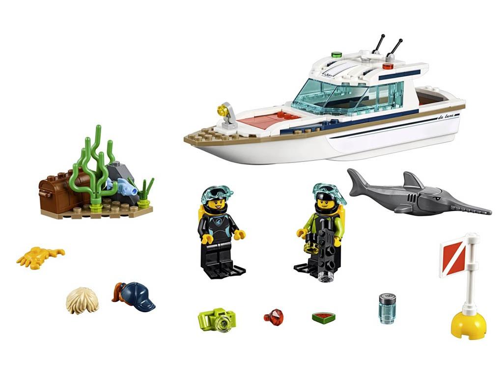 Конструктор Lego City Яхта для дайвинга 148 дет. 60221 конструктор lego friends катер для спасательных операций 908 дет 41381