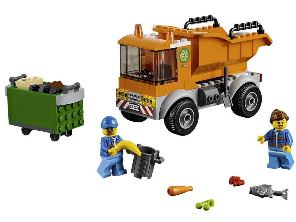 Конструктор Lego City Мусоровоз 90 дет. 60220 конструктор lego city патрульный самолёт 54 дет 60206