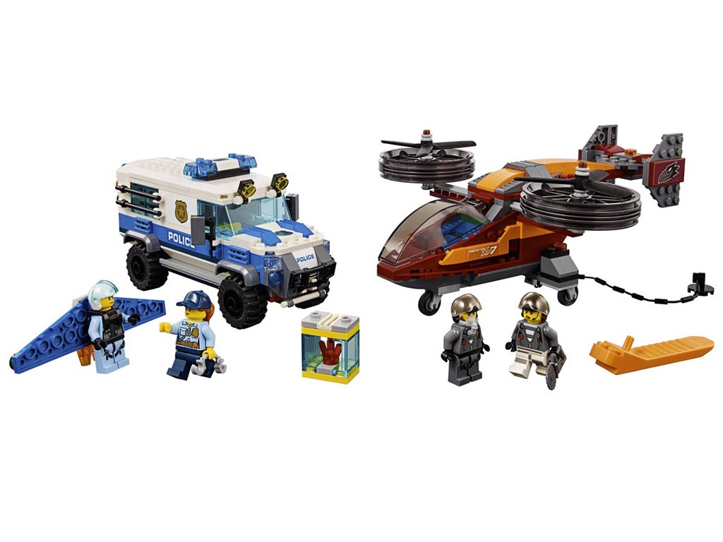 Конструктор Lego City Воздушная полиция: Кража бриллиантов 400 дет. 60209