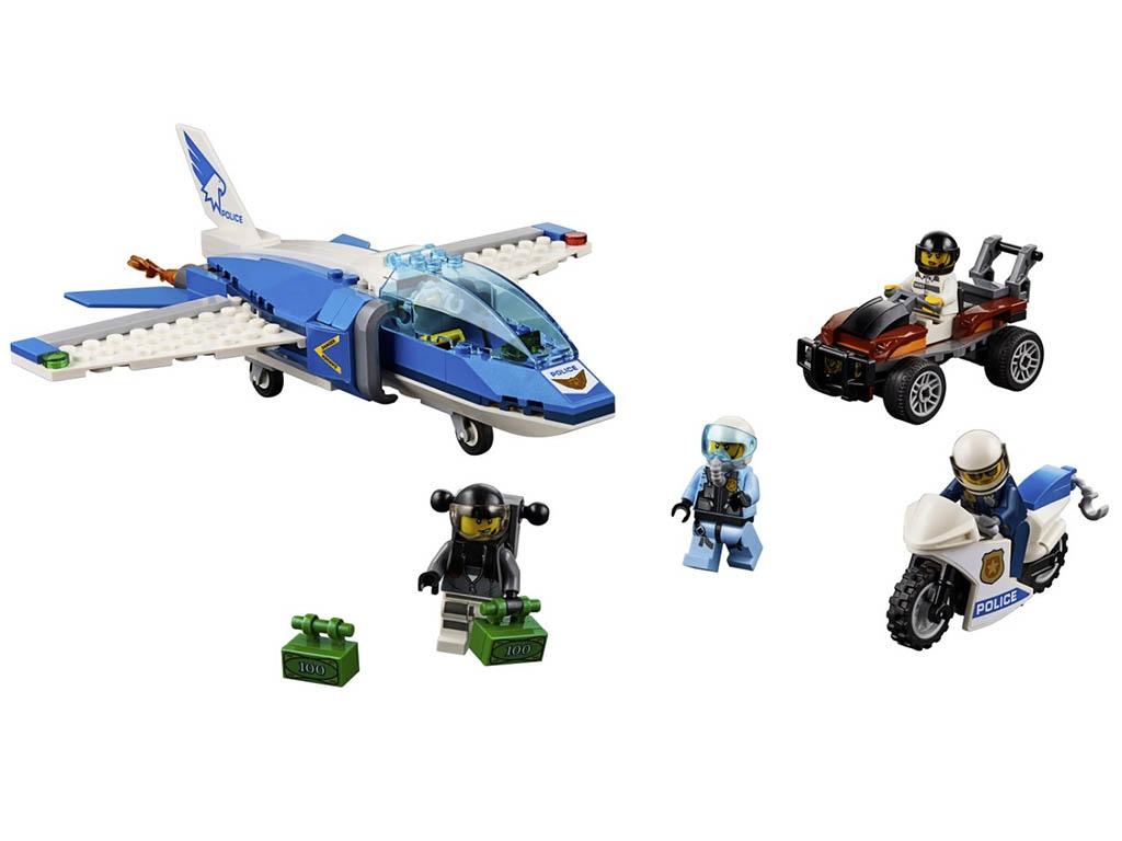 Конструктор Lego City Воздушная полиция: Арест парашютиста 218 дет. 60208 конструктор lego city police воздушная полиция патрульный самолет 60206