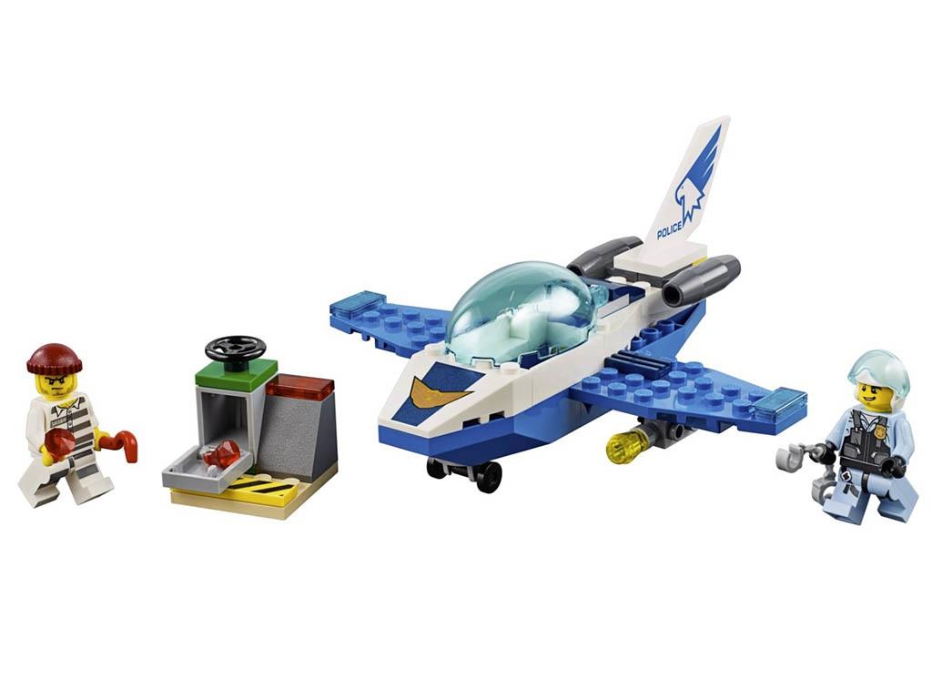 Конструктор Lego City Патрульный самолёт 54 дет. 60206 конструктор lego city police воздушная полиция патрульный самолет 60206