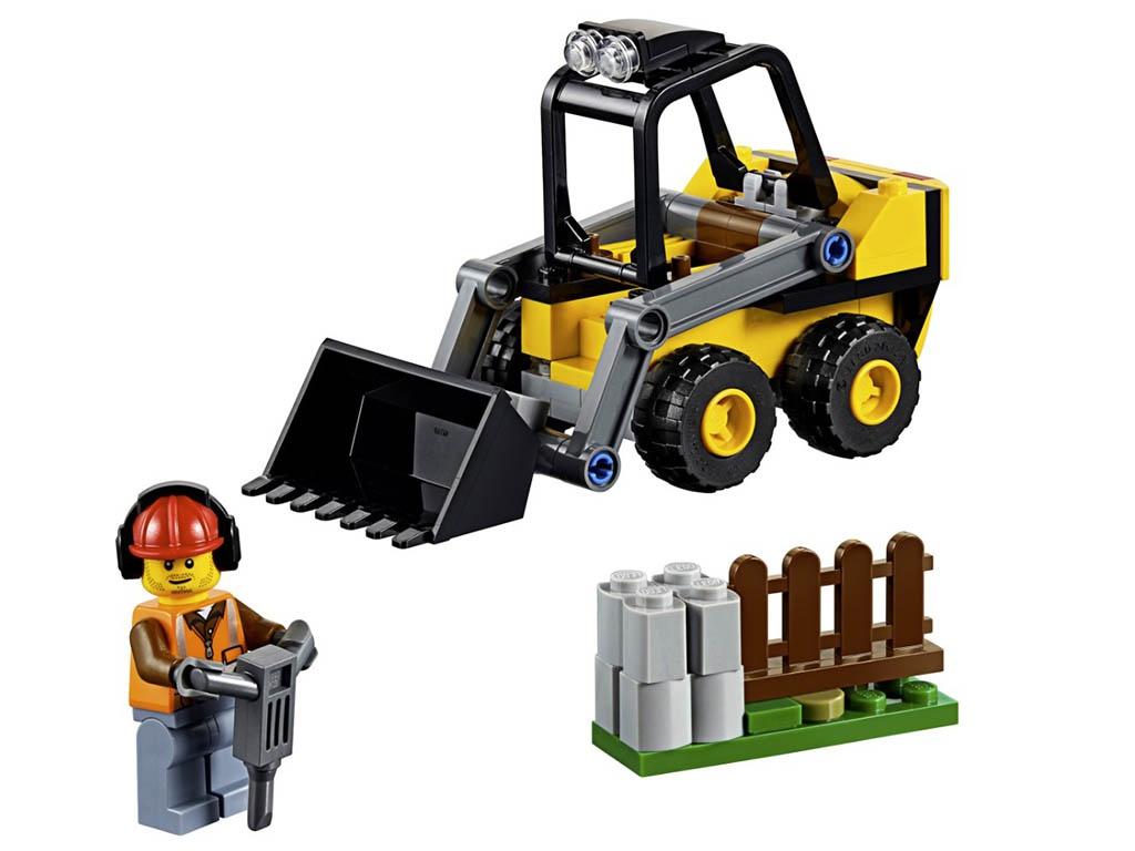 Конструктор Lego City Строительный погрузчик 88 дет. 60219 конструктор lego city патрульный самолёт 54 дет 60206