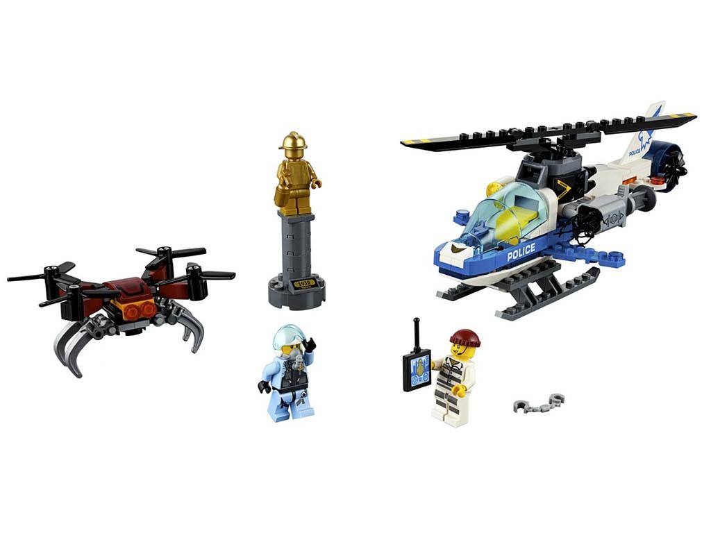 Конструктор Lego City Воздушная полиция: погоня дронов 192 дет. 60207 конструктор lego city погоня в горах 303 элемента 60173
