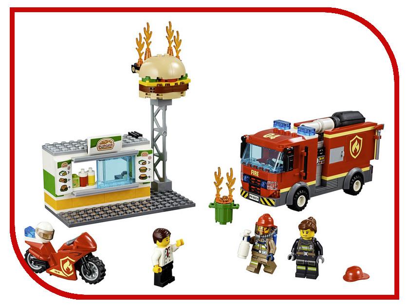 Конструктор Lego City Пожар в бугер-кафе 327 дет. 60214 конструктор lele city сверхмощный спасательный 448 дет 02068