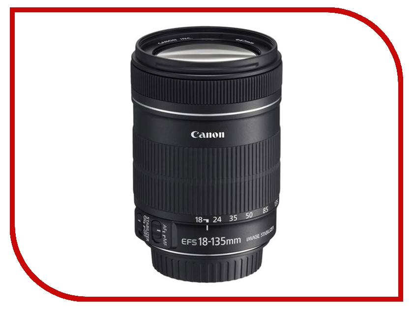 Объектив Canon EF-S 18-135 mm F/3.5-5.6 IS STM объектив canon ef s is stm 1620c005 18 55мм f 4 5 6 черный