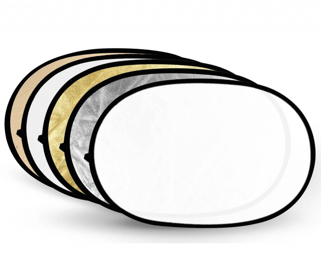 Светоотражатель Fujimi 180x120cm FJ-702-180/120 5 in 1 Silver/Gold/Black/White/Diffuser