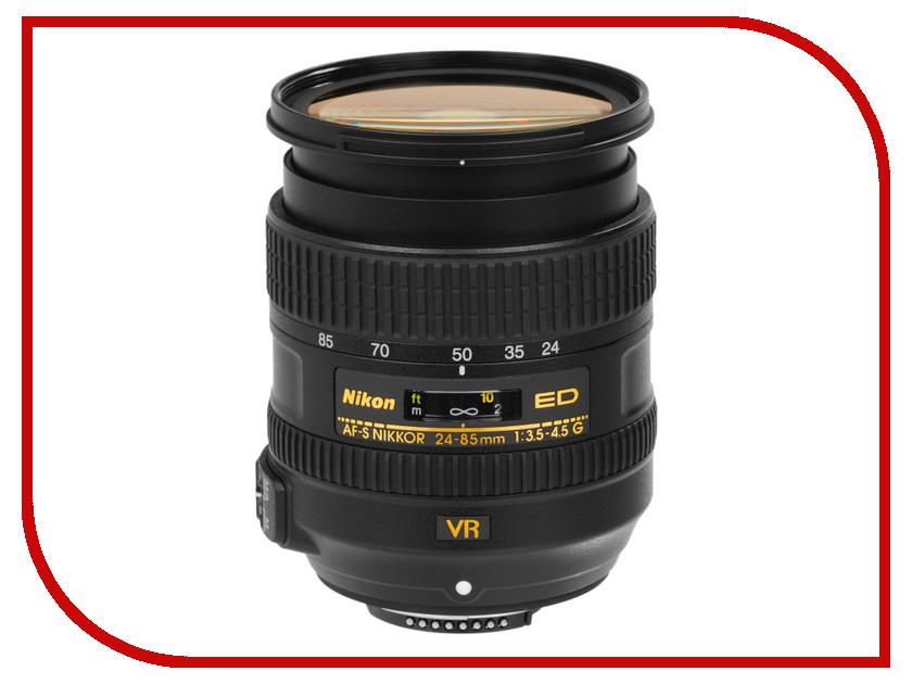 Объектив Nikon 24-85 mm f/3.5-4.5G ED VR AF-S Nikkor объектив nikon af p dx nikkor 18 55 mm f 3 5 5 6g vr
