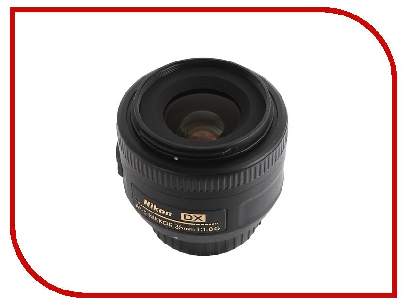 Объектив Nikon Nikkor AF-S 35 mm f/1.8 G DX nikon nikon d3400 slr комплект af s dx nikkor 18 105mm f 3 5 5 6g ed vr black