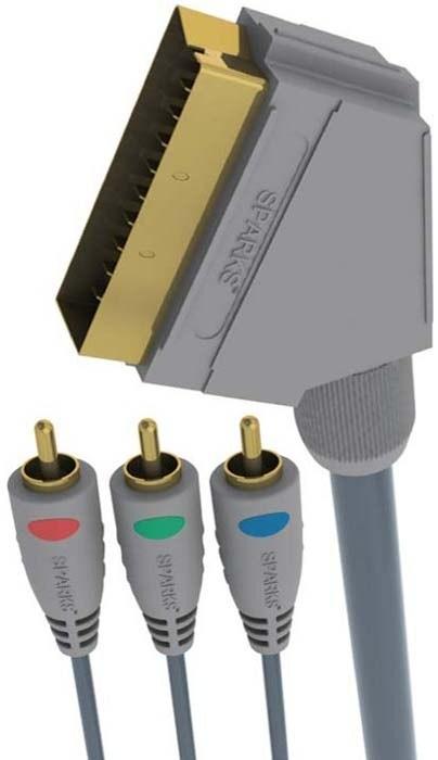 Аксессуар Belsis SCART - 2xRCA+S-VHS 2m BW3005-2