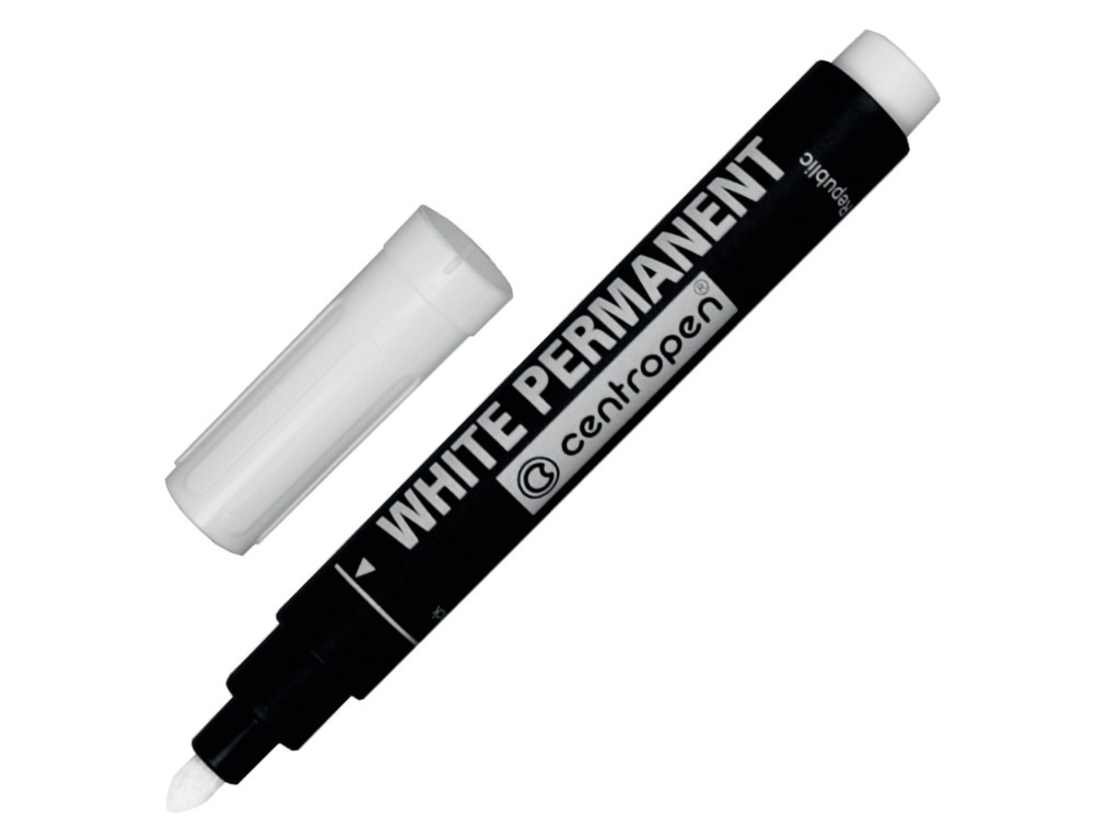 Маркер Centropen 2.5mm White 8586/Б