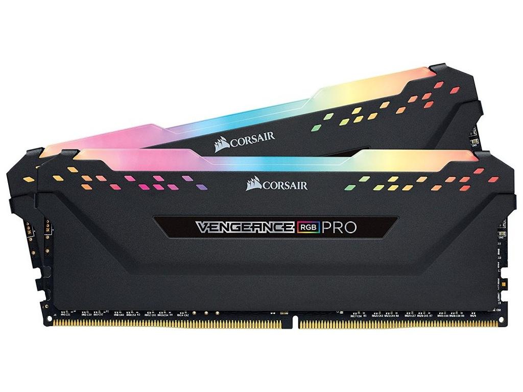 Модуль памяти Corsair Vengeance RGB Pro DDR4 DIMM 2666MHz PC4-21300 CL16 - 32Gb KIT (2x16Gb) CMW32GX4M2A2666C16
