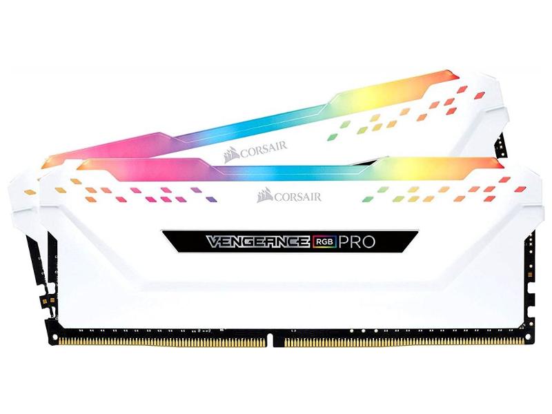 Модуль памяти Corsair Vengeance RGB Pro White DDR4 DIMM 3000MHz PC4-24000 CL15 - 32Gb KIT (2x16Gb) CMW32GX4M2C3000C15W